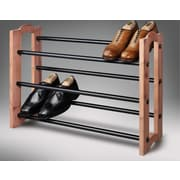 Woodlore Expandable 3 Tier Cedar Shoe Rack