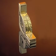 Zoroufy Dynasty 48'' Roped Tubular Stair Rod Set w/Decorative Brackets Acorn Finials; Polished Brass
