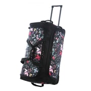 Olympia 26'' Fashion Rolling Duffle Bag; Butterfly