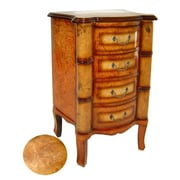 Cheungs Wooden 4 Drawer Cabinet