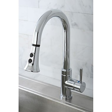 Kingston Brass Concord Gourmetier Single Handle Kitchen Faucet w/ Pull Down Spout