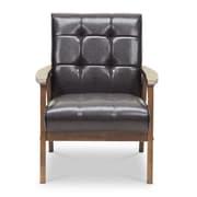 Wholesale Interiors Baxton Studio Mid Century Masterpieces Arm Chair; Brown