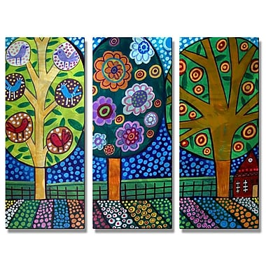 All My Walls 'Wrtrweyt' by Heather Galler 3 Piece Graphic Art Plaque Set