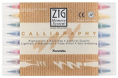 Zig Calligraphy Marker (8 Pack) WYF078276350266