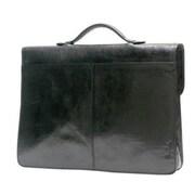 Tony Perotti Italico Leather Briefcase; Black
