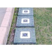 Homebrite Solar Solar 4 Light Step Light Kit (Set of 3); Green Garden