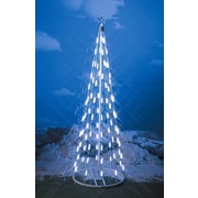 Homebrite Solar String Light Cone Tree Christmas Decoration w/ White Lights