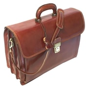 Floto Imports Firenze Leather Laptop Briefcase; Brown