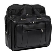 McKlein USA S Series River West Leather Laptop Briefcase; Black