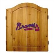 Imperial MLB Team Logo Complete Dart Cabinet Set; Atlanta Braves