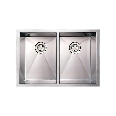 Whitehaus Collection Noah's 29'' x 20'' x 10'' Commercial Double Bowl Undermount Kitchen Sink