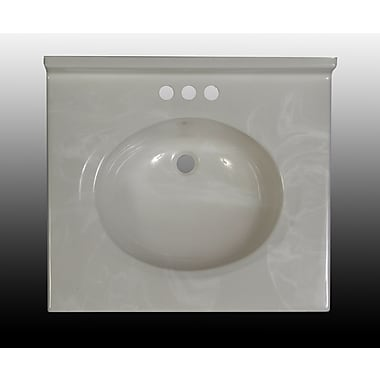 Imperial Classic Center Oval Bowl 25'' Single Bathroom Vanity Top