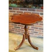 International Caravan Windsor Hand Carved Wooden End Table