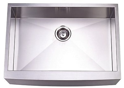 Kingston Brass Denver 30'' x 21'' Gourmetier Single Bowl Farm House Kitchen Sink WYF078276318762