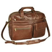 Aston Leather Leather Briefcase; Brown