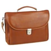 Aston Leather Leather Laptop Briefcase; Tan