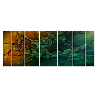 All My Walls 'Motion Revealed' by Michael Lang 7 Piece Graphic Art Plaque Set