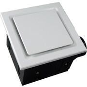 Aero Pure Super Quiet 80 CFM Bathroom Ventilation Fan; White