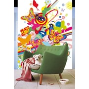 Brewster Home Fashions Ideal Decor Floral Girl Wall Mural