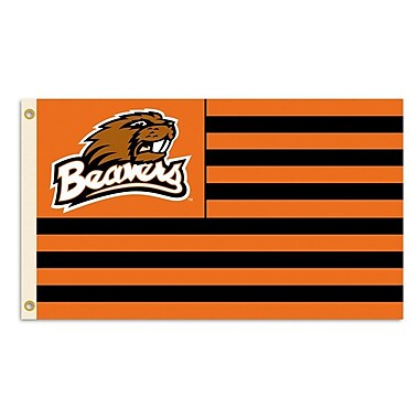 BSI Products NCAA Traditional Flag; Oregon State - Beaver Logo with Stripes
