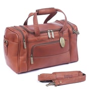 Claire Chase Petite Sport 14'' Leather Travel Duffel; Saddle