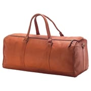 Clava Leather Vachetta Barrel 23'' Leather Carry-On Duffel; Tan
