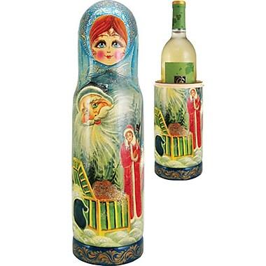 G Debrekht Russia Fairy 1 Bottle Taletop Wine Rack