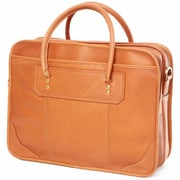 Clava Leather Leather Laptop Briefcase; Tan