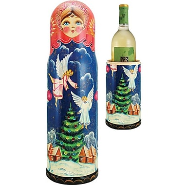 G Debrekht Russia Angels 1 Bottle Tabletop Wine Rack