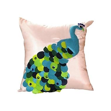 Debage Inc. Felt Peacock Throw Pillow