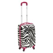 Rockland 20'' Polycarbonate Carry-On; Pink Zebra