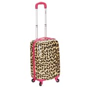 Rockland 20'' Polycarbonate Carry-On; Pink Leopard