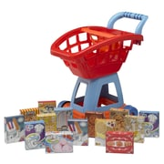 American Plastic Toys 15 Piece Deluxe Shopping Cart with Play Food Playset