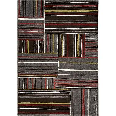 Kalora Safi Red/Gray Area Rug; 5'3'' x 7'7''