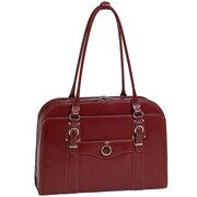 McKlein USA W Series Hillside ' Laptop Leather Briefcase; Red