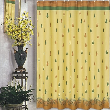 Carnation Home Fashions Winter's Break Holiday Shower Curtain