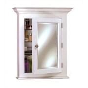 Afina Wilshire II 22'' x 27'' Semi Recessed Medicine Cabinet; White