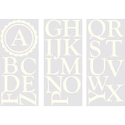 WallPops! WallPops Baby Sheets Dorset Ivory Monogram and Alphabet Wall Decal
