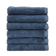 Linum Home Textiles Soft Twist 100pct Turkish Cotton Wash Cloth (Set of 6); Midnight Blue