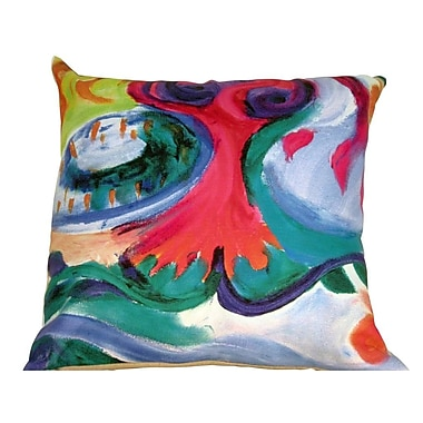 Mychael Darwin Gifts of Healing Grace Leather Throw Pillow