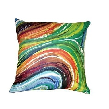 Mychael Darwin Gifts of Healing Leather Throw Pillow