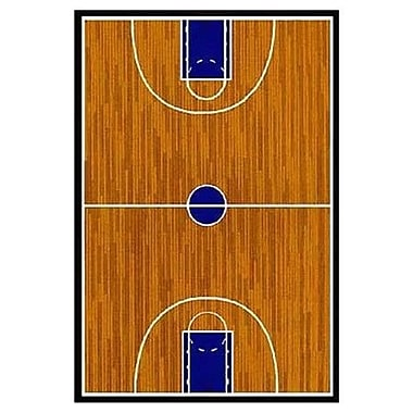 Fun Rugs Supreme Basketball Court Sports Brown Area Rug; 3'3'' x 4'10''