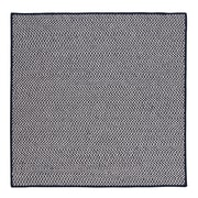 Colonial Mills Outdoor Houndstooth Tweed Navy Rug; Square 4'