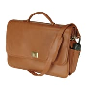 Royce Leather Royce Leather 15'' Laptop Briefcase Bag; Tan