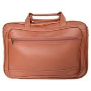 Royce Leather Royce Leather Expandable Laptop Briefcase Organizer Bag; Tan