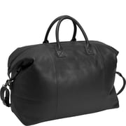 Royce Leather Royce Leather Travel Duffel Overnight Bag in Genuine Leather; Black