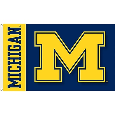 BSI Products NCAA Traditional Flag; Michigan - M Logo on Blue & Yellow