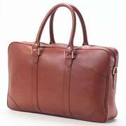 Clava Leather Bridle Slim Top Handle Leather Laptop Briefcase; Bridle Cognac