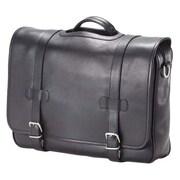 Clava Leather Bridle Executive Porthole Leather Laptop Briefcase; Bridle Black