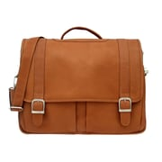 Piel Ultimate Organizational Portfolio Briefcase; Saddle